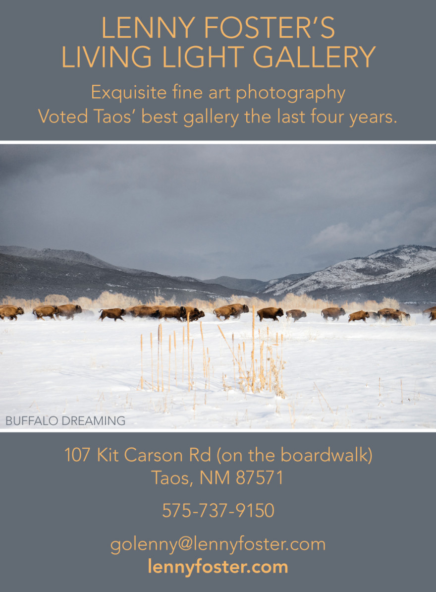 Lenny Foster Living Light Gallery Ad for Taos Magazine